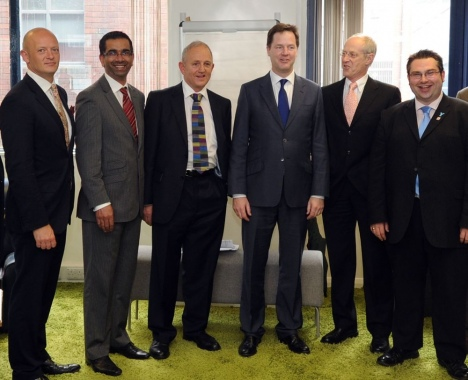 Nick Clegg with council leaders